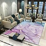 LBMTFFFFFF Alfombra para el hogar de lujo, estilo nórdico, suave para la piel, rectangular, grande, alfombra de salón, dormitorio, noche, tapiz, 100 x 150 cm