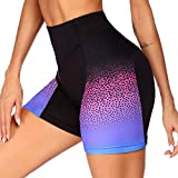 COOrun Women Cycling Clothing Underwear with 3D Padded,Gel Bike Underwear and Bike Shorts (Colorful L) Purple
