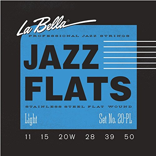La Bella flatwound strings for electric guitar (20PL)
