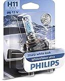 Philips WhiteVision ultra H11 lampadina fari auto, blister singolo