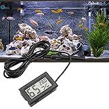 Mini Higrómetro de Termómetro LCD Integrado con Sonda Externa para Incubadoras,Incubadoras, Tanque de Reptiles, Acuario, Tanque de Peces