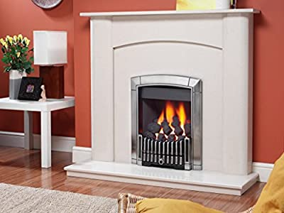 Flavel Ficc3Rmn Silver Caress Contemporary Natural Gas Inset Fire