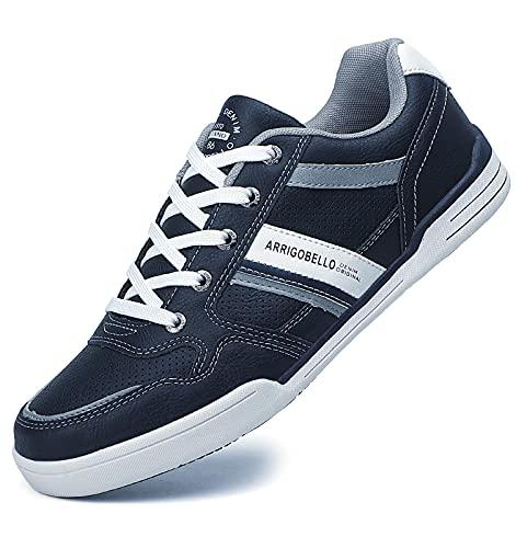 TARELO Sneakers Uomo Scarpe da Ginnastica Sportive Eleganti Casual Running Indoor Outdoor Taglia 41-46 (Blu, 46)
