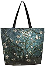 Beach Bag–Toy Tote Bag–Large Lightweight Market,Grocery & Picnic Tote with Eco Reusable Eco-Friendly Shopping Bag Handle Case Bag School Shopping Large Grocery Shoulder bag (Van Gogh Painting)