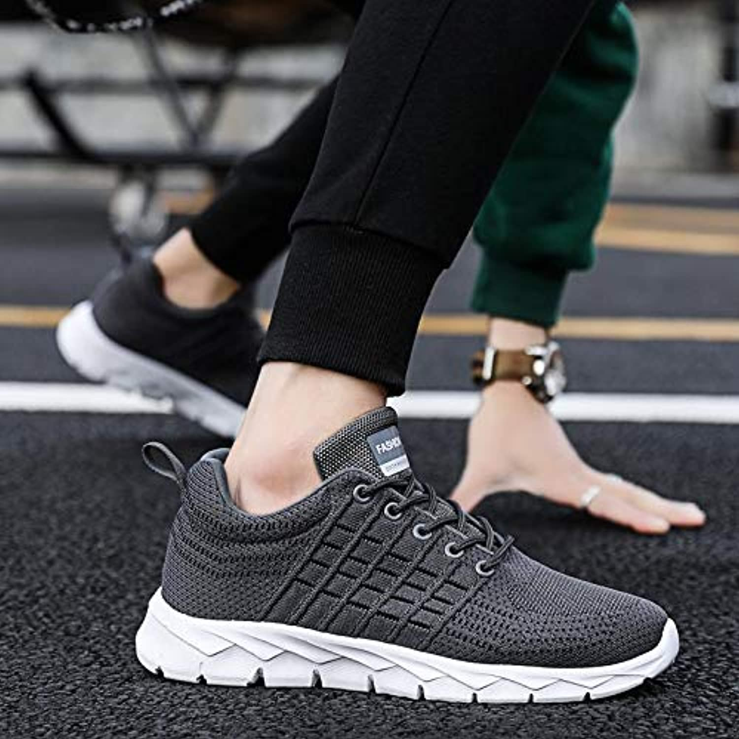LOVDRAM Men's shoes New Casual shoes Sports Men'S shoes Spring And Summer Mesh shoes Breathable Casual shoes Men'S Sports shoes Running shoes Flying Woven Fashion shoes