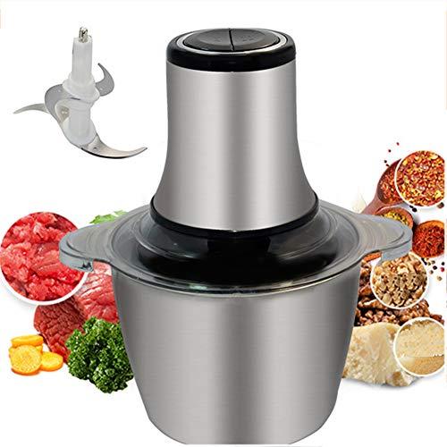 Mini Chopper, 800W Elektro-Küchenmaschine Fleischwolf, 3L Edelstahl 4 Bi-Level-Blades, Für Babynahrung, Fleisch, Zwiebeln, Gemüse