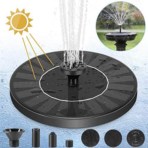 Solar Pond Fountain, 175 L/H Floating Solar Fountain Pump, Solar Panel...