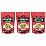 Seapoint Farms Dry Roasted Edamame, Sea Salt, 4-Ounce Pouches, (3 pack)