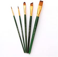 5PCS/lot Watercolor Paintbrush Set Wooden Handle Nylon Paint Brush Pen Professional Oil Painting Drawing Tool Art Supplies...