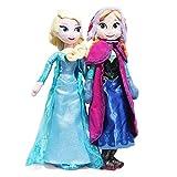 LANZZ 2 Unids / Set 40Cm Frozen Anna Elsa Muñeco De Peluche De Juguete Snow Queen Princess Doll Jugu...