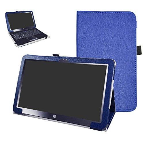 Insignia 11.6 NS-P11W7100 / NS-P11A8100 Case,Mama Mouth PU Leather Folio Stand Cover for 11.6' Insignia 11.6 NS-P11W7100 / NS-P11A8100 11.6 Inch Windows 10 Tablet PC,Dark Blue
