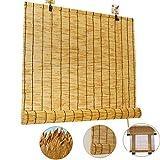 NIANXINN Rideau de Roseau Store Enrouleur Bambou,Store en Bambou de Décoration Vintage - Rideaux,Volets de Levage Intérieurs et Extérieurs,pour Portes et Fenêtres,personnalisés (110x200cm/43x79)