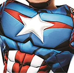 Rubie's 640833M Official Marvel Avengers Captain America Deluxe Child Costume, Boys, Medium Age 5-6, Height 116 cm #3