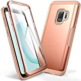 YOUMAKER Galaxy S9 Case, Rose Gold with Built-in Screen Protector...