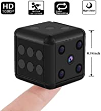 Crazepony Mini Hidden Spy Camera SQ16 1080P HD Nanny Cam Night Vision Portable Motion Detection FOV 90 Degree Sports Camera Mini DV Video Recorder