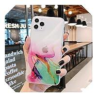 Euiwq 大理石の電話ケースFor iPhone12 11 Pro Max SE 2020 7 8 Plus X XS XR XSMaxケース透明色完全保護クリアカバー-2-For iPhone SE 2020