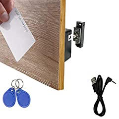 ONE KEY FOR MULTIPLE LOCKS - This RFID locks are programmable, and you can use one key (RFID card/fob) to unlock several cabinet locks as you want. The only thing you need to do: program the key into the locks and test it before installation. SUITABL...