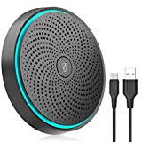 Micrófono USB para conferencia, micrófono para ordenador, indicador de volumen, utilizado para reuniones en línea, grabación, Skype, juegos, compatible con PC/ordenador portátil