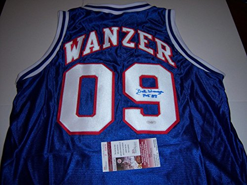 Bobby Wanzer Autographed Jersey - Bob hof 87 Jsacoa - Autographed NBA Jerseys