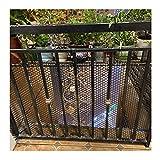 階段の安全ネッティング階段の手すりの安全ネッティングベビーバルコニーのネッティング階段の手すりのフェンスのネッティング子供たちの安全ネッティングペットの安全ネッティング階段、黒、0.5M * 4M。(Size:2.5CM Aperture,Color:ブラック)