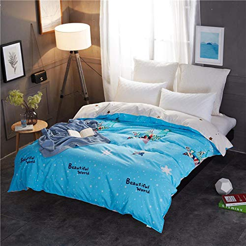 Miwaimao Single-Piece Quilt Quilt University Student Dormitory With Single Double,Beautiful Sky,240x220cm