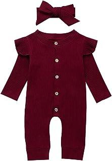 Geagodelia Baby Mädchen Jungen Strampler Spieler Babykleidung Schlafstrampler Neugeborene Kleinkinder Weiche Kleidung Outfit Babystrampler T-34929