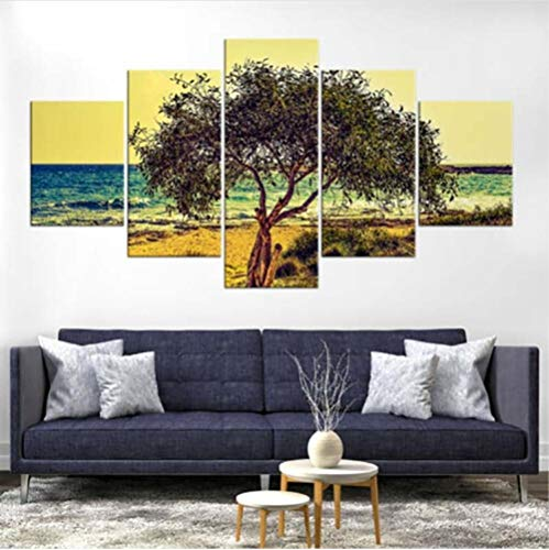 SKShenkai abstrakte Wandkunst Leinwand Gemälde Modulare 5 Stücke Olivenbaum Landschaft Bild HD Print Poster Rahmen Für Wohnzimmer Dekoration Wohnzimmer
