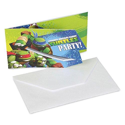amscan Teenage Mutant Ninja Turtles 6-Invite und Umschläge