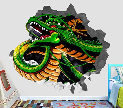 BFLOF Dragon ball z 3d etiqueta de la pared pegatina rota vinilo de decoración