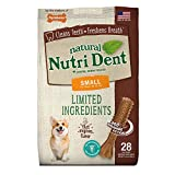 Nylabone Nutri Dent Natural Dental Filet Mignon Flavored Chew Treats 28 Count Small - Up to 15 Ibs.