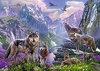 1000パズルジグソーパズル動物の狼のパターン大人の子供たちのジグソーパズルの家族教育教育玩具ホリデーギフト
