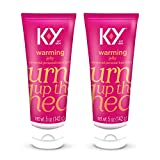 K-Y Warming Jelly Lube, Sensorial Personal Lubricant, Glycol Based Formula, Safe to Use with Latex Condoms, for Men, Women and Couples, 5 FL OZ (Pack of 2)