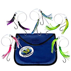 JawLures Official Offshore Deep Sea Fishing Lures | Uniquely Designed to Hook 2 Fish Simultaneously | Made in The USA (Tuna Buster)