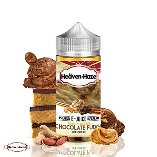 ELIQUID HEAVEN HAZE - PEANUT BUTTER CHOCOLATE FUDGE - BIZCOCHO DE CHOCOLATE CACAHUETE Y DULCE DE LECHE - SIN NICOTINA (100ML)