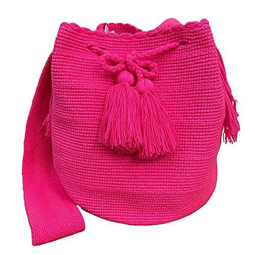 Bolso bandolera grande de algodón hecho a mano, Colombia Wayuu Tribe Crossbody Bag CellPhone Monedero Monedero Bolsos cruzados ligeros para mujer Color 49#