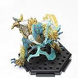Lotoy Monster Hunter Figura Zinogre (Rage Ver.) Constructor Mini Figura CFB Modelo PVC (sin caja) chibi