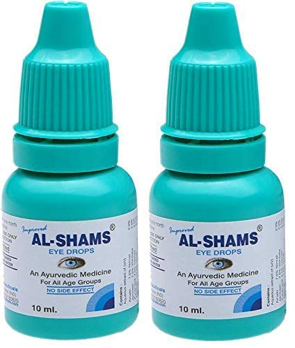 AL-SHAMS EYE DROPS | Complete Herbal Eye Care | 100% Ayurvedic and Natural 10ml | Pack Of 2