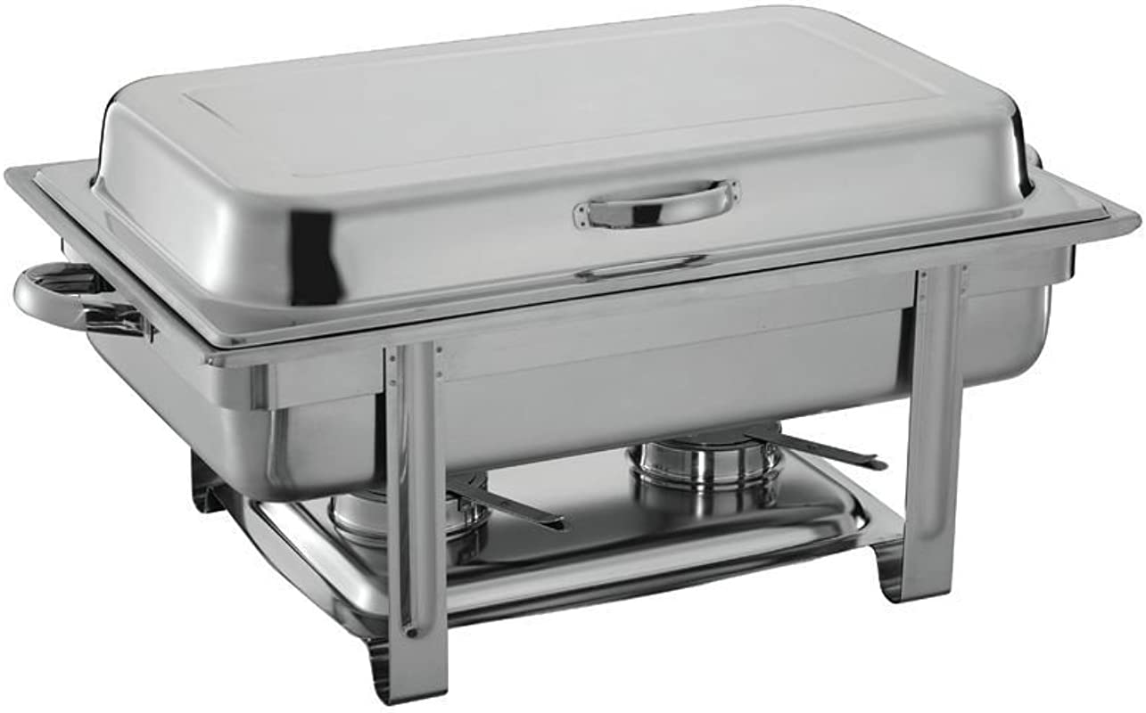 HUBERT 9 1 2 Qt Full Size Stainless Steel Chafer With Hinged Lid 24 3 4 L X 14 1 8 W X 11 H
