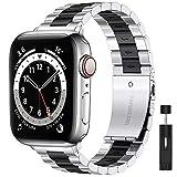 LIWIN Cinturino Compatibile con Apple Watch 38mm 42mm iWatch Series 6/5/4/3/SE/ 2/1 braccialetti in metallo, braccialetti di ricambio in acciaio inossidabile Braccialetti di ricamb