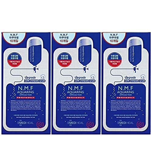 【正規品】Mediheal メディヒール N.M.F アクアリング アンプル・マスクパックEX 30枚セット(10枚入り×3)(Aquaring Ampoule Essential Mask PackEX 1box(10sheet)×3