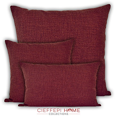 Cieffepi Home Collections Cuscino Arredo Multicolor (30x50, Bordeaux)