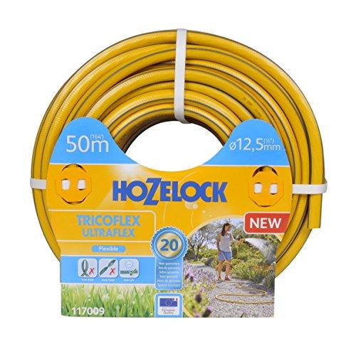 Hozelock Tricoflex 117009Jardín Manguera Ultraflex, Amarillo