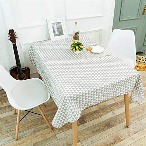 PhantasyIsland.com Small Rectangle Spliced Striped Tablecloth Cotton Linen Side Table Cloth Kitchen Living Room Decoration 100 * 160cm