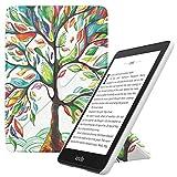 MoKo Funda Compatible con Kindle Paperwhite (10th Generation, 2018 Releases), Standing Origami Slim Shell Funda con Auto Sueño/Estela Compatible con Kindle Paperwhite 2018 - �rbol de Suerte