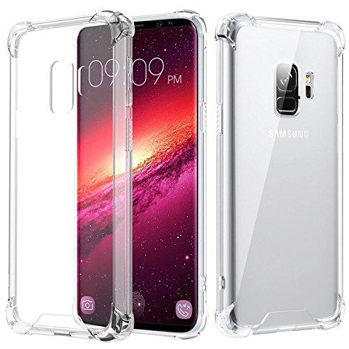 JProtect Hülle kompatibel mit dem Samsung Galaxy S9 Shockproof | Transparentes Stoßsicheres TPU | Silikonhülle Bumper case Cover Schutzhülle | Perfekte Passform | Unterstützt Kabelloses Laden |