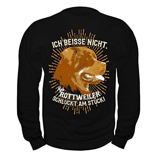 Männer und Herren Pullover Sweatshirt Rottweiler lustiger Spruch sprüche Grösse S bis 8XL