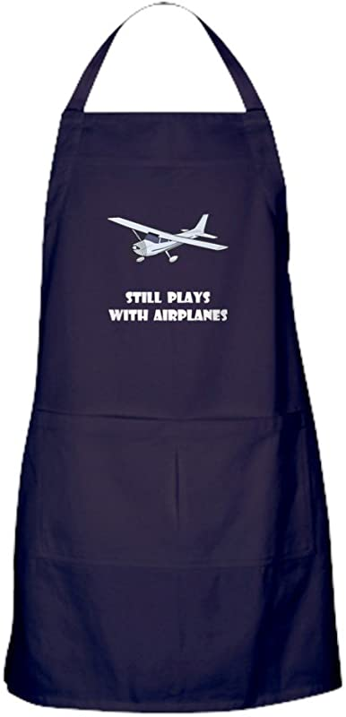 CafePress Still Plays With Airplanes Kitchen Apron With Pockets Grilling Apron Baking Apron
