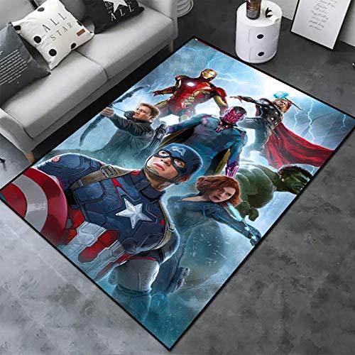 Maize store Teppich Avengers Alliance Captain America Iron Man Wohnzimmer Schlafzimmer Kinderzimmer Kindergarten Kreative Cartoon Cartoon Anti-Rutsch-Matte 80 cm X 120 cm