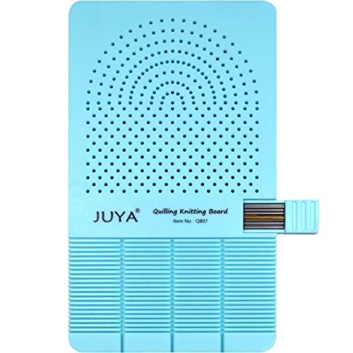 JUYA Quilling Strick Brett mit 2 Funktionen haben Sticks Aufbewahrung (Blau)