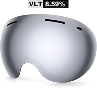 81846aac38 Zionor X5 Ski Snowmobile Snowboard Snow Goggles with UV400 Protection Anti-Fog  Oversized Spherical for